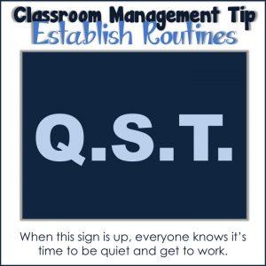 Classroom Management Establish Routines