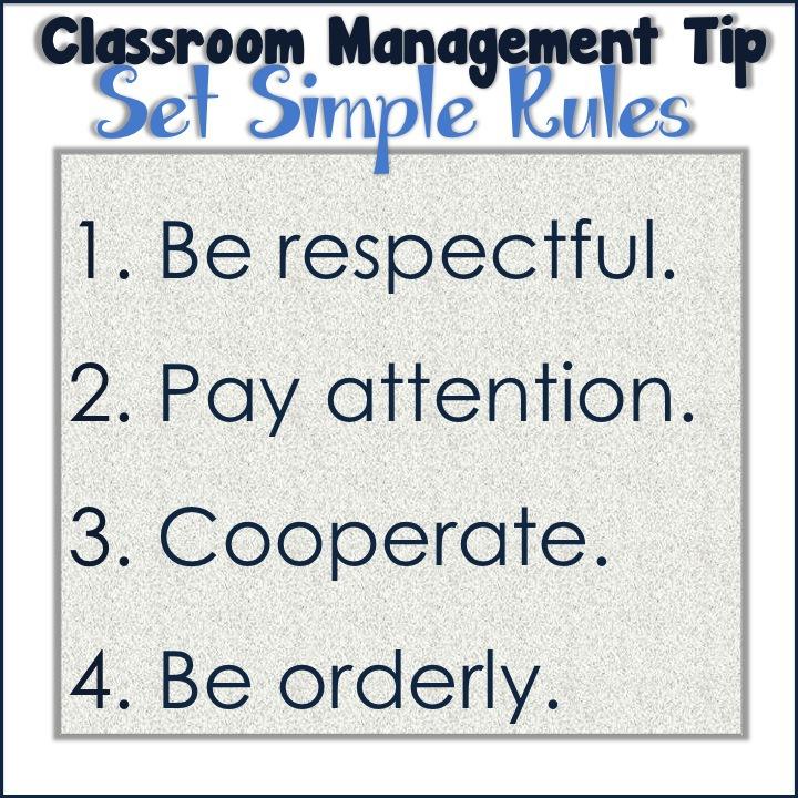 Classroom Management Set Rules