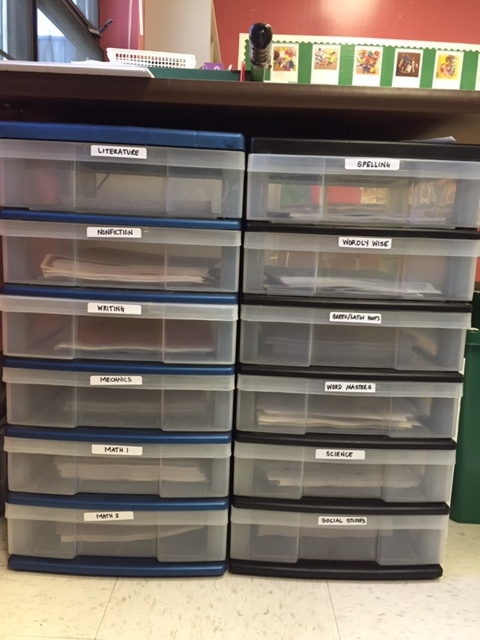 Organizing Teaching Stuff in Drawers