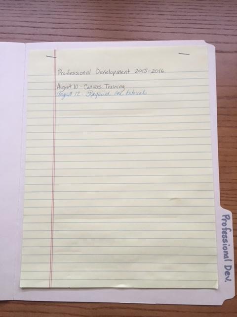 organizing professional stuff in file folders