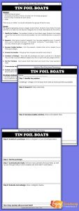 Simple STEM Challenges - Tin Foil Boats