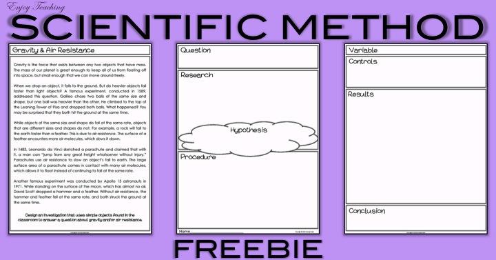 Enjoy Teaching Scientific Method 5