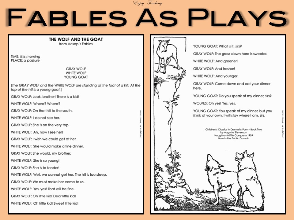 Teaching Fables Reading Writing And Speaking