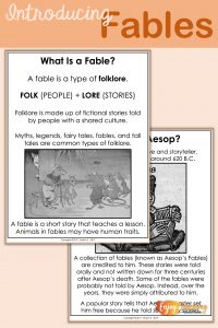 Teaching Fables Introduction