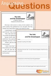 Teaching Fables with Comprehension Questions
