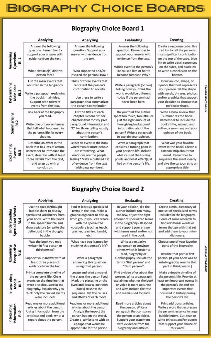 Enjoy Teaching Biography 5