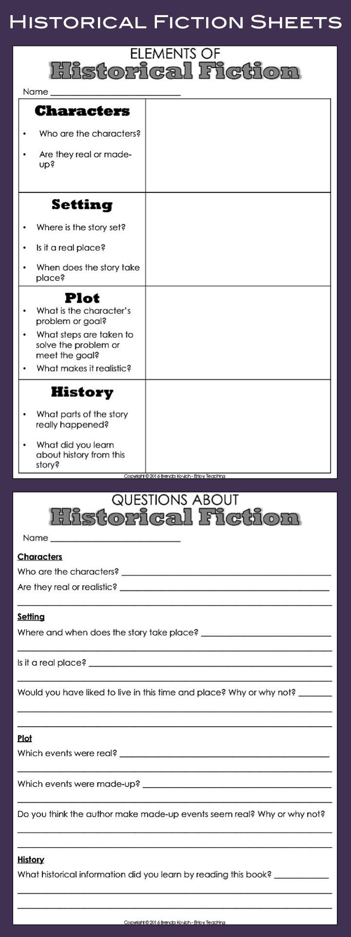 Enjoy Teaching Historical Fiction 3