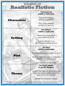 Teaching Realistic Fiction Anchor Chart