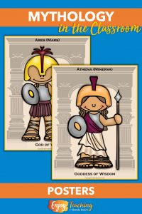 Teaching mythology is fun with these posters of characters from Greek myths.