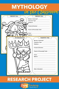 Teaching mythology is fun and easy with this set of 33 research sheets. Kids in fourth and fifth grades learn about characters from Greek myths.