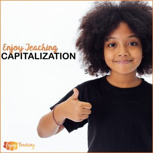 Enjoy Teaching Capitalization Cover - Girl with Thumb Up