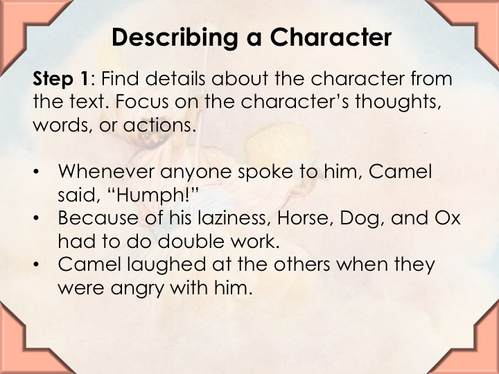 Teaching Character Types 1
