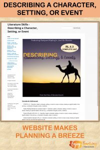 This unit asks fourth grade students to describe a character, setting, or event. Everything is stored in one handy website.