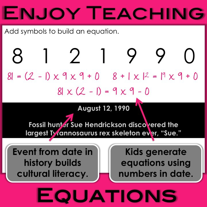 Building Equations Every Day