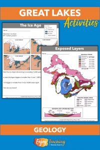 Kids learn about the geology of the Great Lakes region.