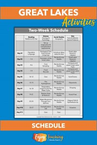 This two-week schedule allows you to teach an interdisciplinary unit on the Great Lakes in two weeks.