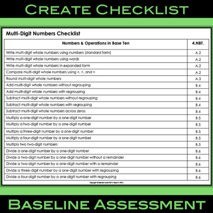 Baseline Assessment 1