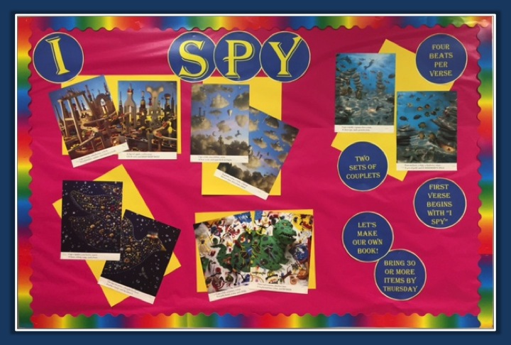 Teaching Poetry with I Spy Bulletin Board