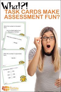Are you looking for a way to make beginning of year assessment fun? As you go back to school, try task cards. Your third grade, fourth grade, and fifth grade students will be up and moving - and you'll get the baseline assessment you need.