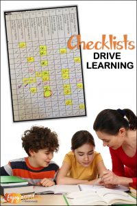 Using teacher checklists to keep track of student mastery really works! Teachers, you can easily see who needs help with certain skills or standards. Let checklists drive learning!