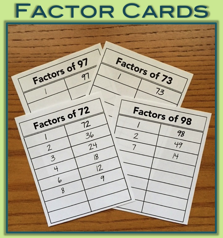 Factor Cards