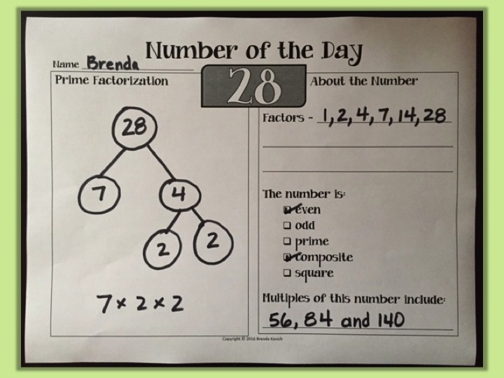 Teaching Factors - Number of the Day