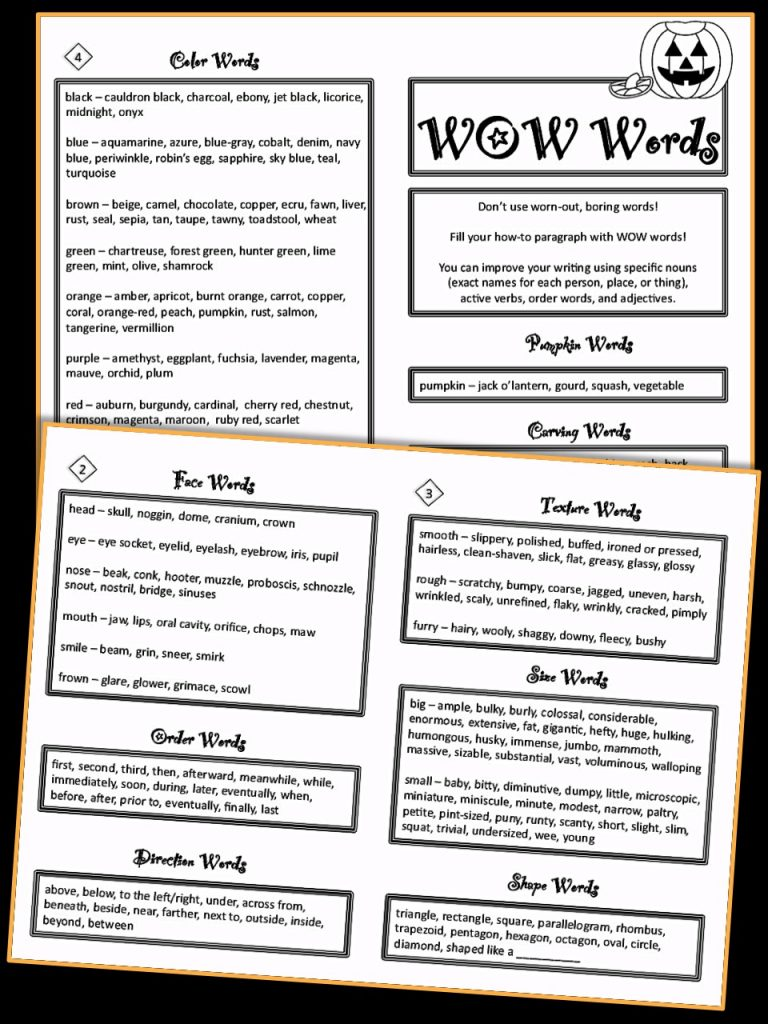 Make October writing shine with this specially-designed Halloween thesaurus. It's great for third and fourth graders.