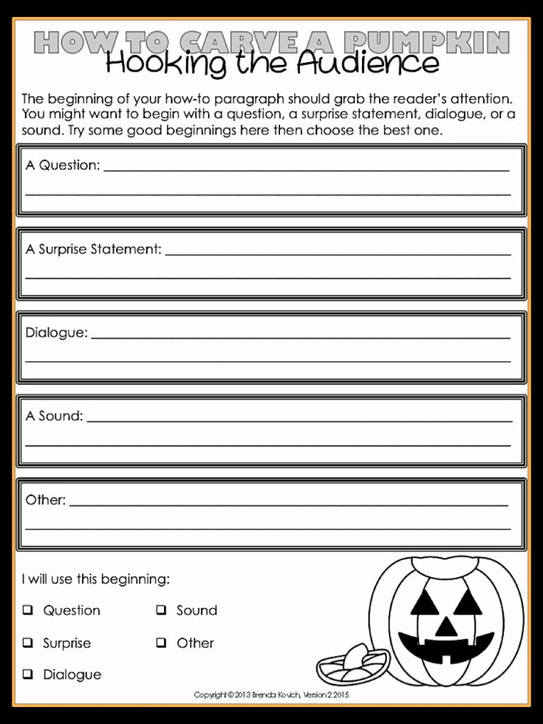 Halloween Writing Beginning