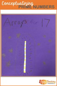 When you ask kids to draw arrays for numbers, they can clearly see which are prime.