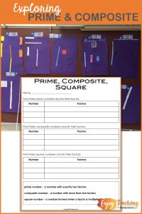 Ask your fourth grade and fifth grade students to explore prime, composite, and square numbers using arrays. Visual displays help them conceptualize like never before.