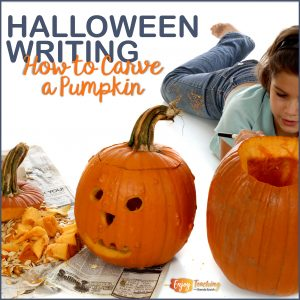 How to Carve a Pumpkin - a writing activity for third and fourth graders