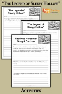 """Add some fun (and learning) with """"The Legend of Sleepy Hollow."""" Your fourth grade, fifth grade, and sixth grade students will love these activities!"""
