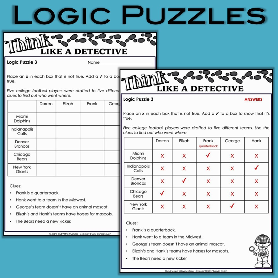 Mystery Activities - Logic Puzzles