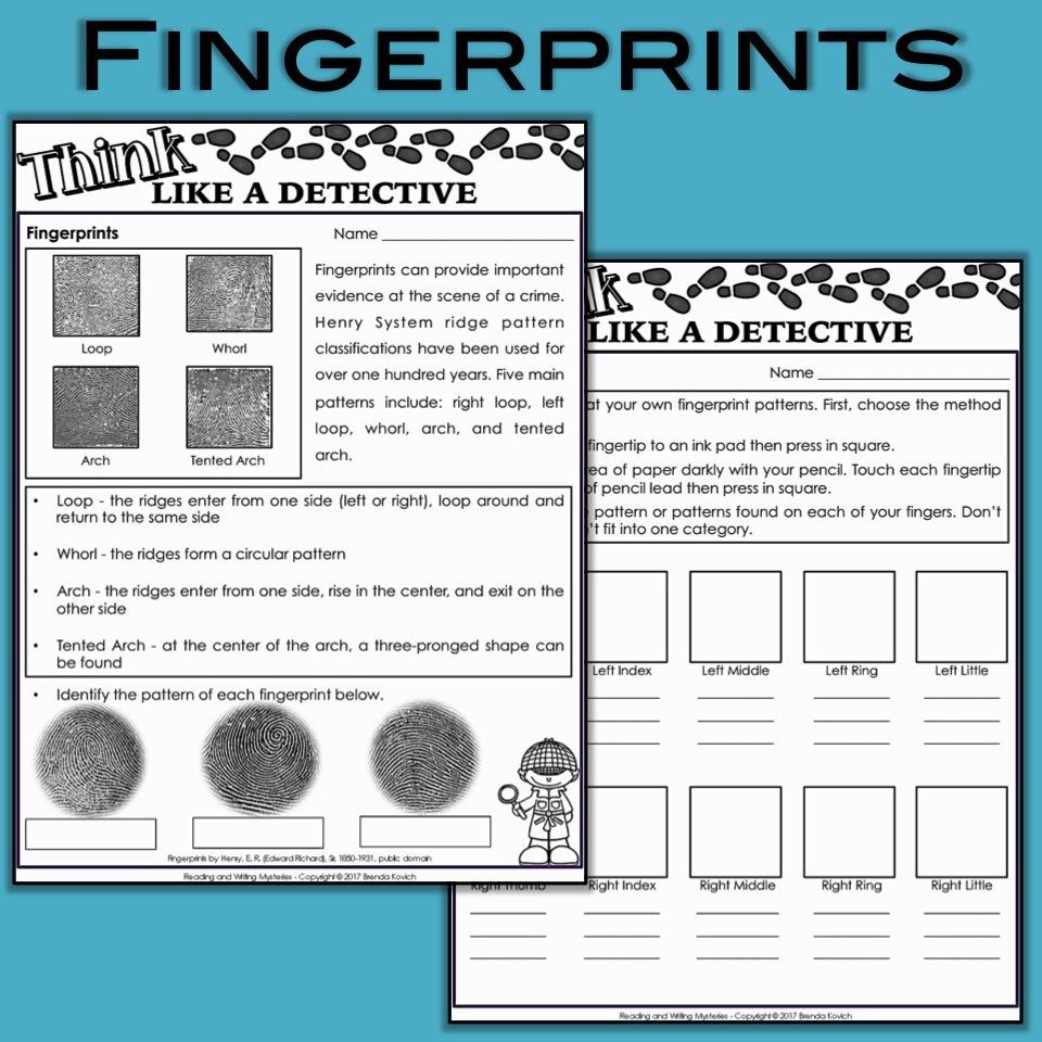 Mystery Activities - Fingerprints