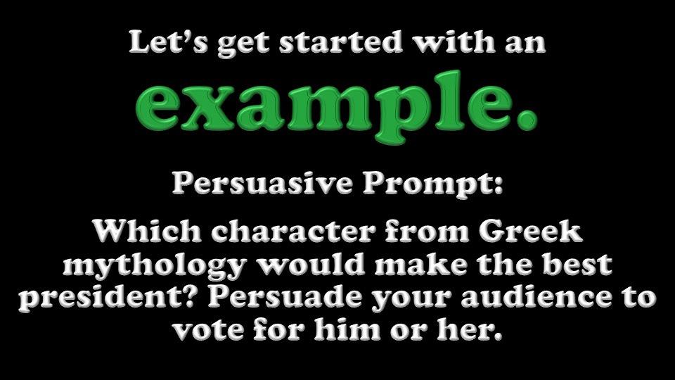 Persuasive Paragraph Prompt