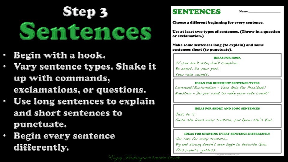 Persuasive Paragraph Sentences