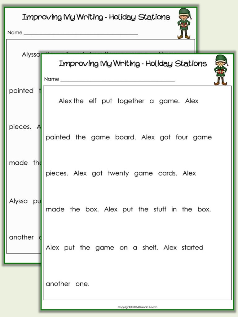 Improving Narrative Writing Texts