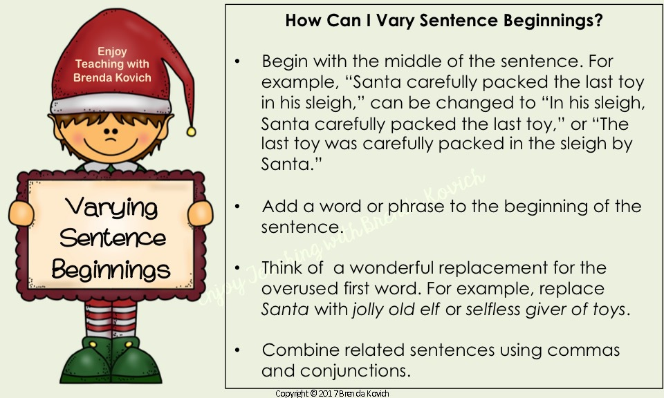 Improve Narrative Writing Christmas 1