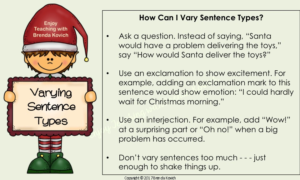 Improve Narrative Writing Christmas 2