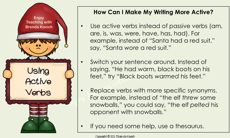 Improve Narrative Writing Christmas 6