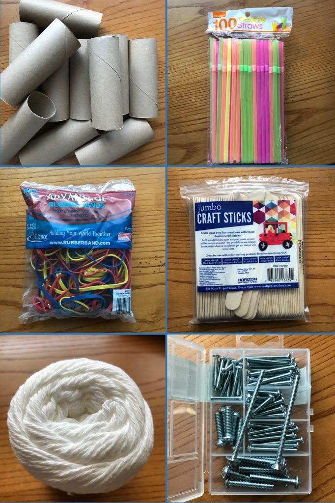 STEM Sound Activities Materials - Challenge your third grade, fourth grade, and fifth grade students to make musical instruments with toilet paper tubes, straws, rubber bands, craft sticks, string, and screws.