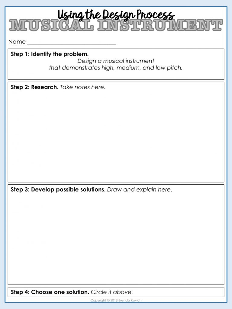STEM Your Science Activities - Lab Sheet 1