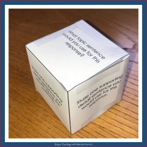Make Constructed Response Fun - Cube
