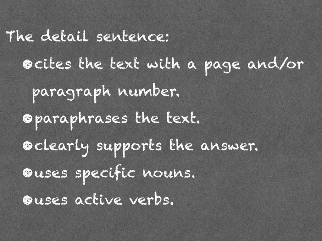 Classroom Contests - Detail Sentence Criteria