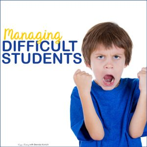 Managing Difficult Students