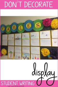 Decorating Your Classroom with Student Writing