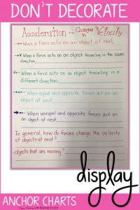 Decorating Your Classroom with Anchor Charts