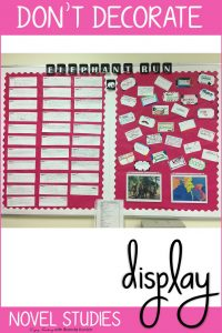 Decorate Your Classroom with Novel Studies