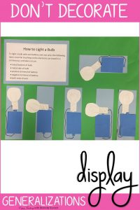Decorate Your Classroom with Generalizations