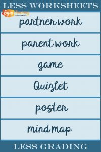 Teachers, less worksheets = less grading. Try these instead.